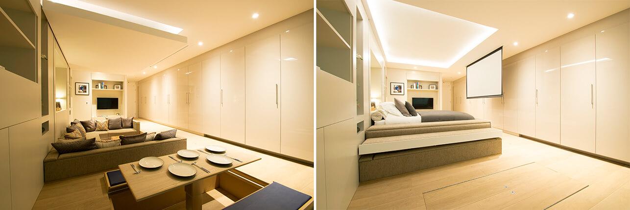 Foto de um apartamento compacto mobiliado.